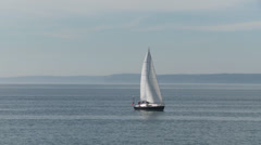 Sailing on Puget Sound Stock Footage