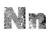 Stock Illustration of finger print alphabet