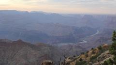 Pan Left Grand Canyon Sunset Stock Footage