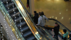 Mall Pedestrian Traffic Tilt Shift Stock Footage