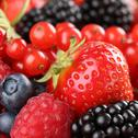 Stock Photo of strawberries, blueberries, red currants, raspberries and blackberries