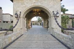 Stock Photo of Stone Gateway To Home
