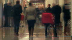 Mall Pedestrian Traffic Time Lapse - stock footage