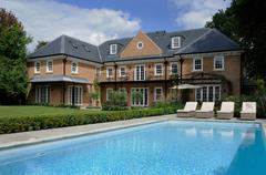 house with pool - stock photo