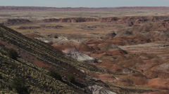 Pan Right Desert Formations Stock Footage