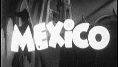 MEXICO Mexican Travel Tourism Vintage Old Film Title Graphic Leader 8mm 7012 Stock Footage