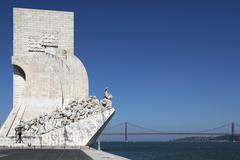 monument for the discoverers in lisbon portugal - stock photo