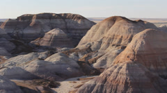 Pan Right Painted Desert Hills Landscape Stock Footage
