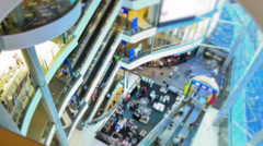 Mall Pedestrian Traffic Time Lapse Zoom - stock footage
