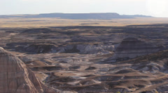 Pan Right Painted Desert Landscape Stock Footage