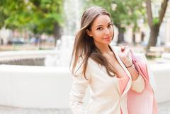 fashionable young shopper. - stock photo