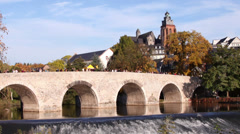 Old bridge in Wetzlar, Germany Stock Footage