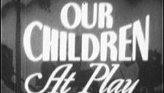 OUR CHILDREN AT PLAY Vintage Old Film Title Graphic Leader 8mm 7017 Stock Footage