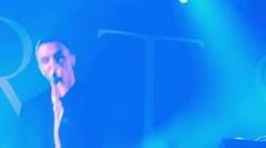 Theo Hutchcraft Hurts greets fans at the rock festival The Best City.UA Stock Footage