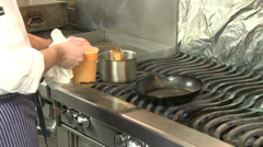 Master Chef at work (7 of 7) Stock Footage