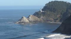 Heceta Head Lighthouse in Oregon Coast Stock Footage