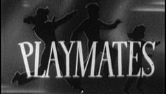 PLAYMATES KIDS PLAY Vintage Old Film Title Children Graphic Leader 8mm 7018 Stock Footage