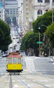 Elevated view of tram on uphill ascent San Francisco Stock Photos