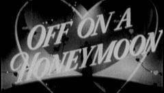 HONEYMOON Vintage Old Film Title Newlyweds Marriage Graphic Leader 8mm 7019 Stock Footage