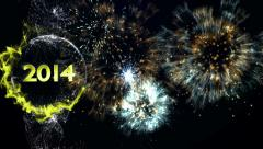 2014 Year in Particles, Background - stock footage