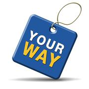 your way - stock illustration