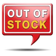 out of stock - stock illustration