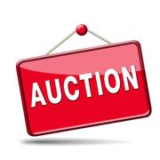 auction icon - stock illustration