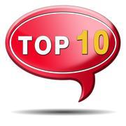 top 10 icon - stock illustration