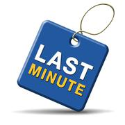 Last minute ticket sign Stock Illustration