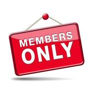 Stock Illustration of members only sign