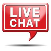 live chat icon - stock illustration