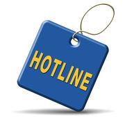 hotline icon - stock illustration