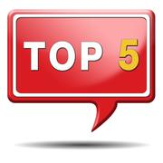 top 5 icon - stock illustration