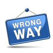 wrong way - stock illustration