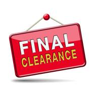 Stock Illustration of final clearance