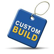 custom build label - stock illustration