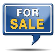 for sale sign - stock illustration