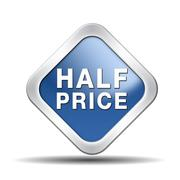 half price - stock illustration