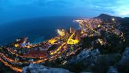 Stock Video Footage of Monaco Cityscape Time Lapse Fisheye
