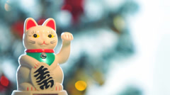 Japanese Lucky Cat 3 Stock Footage