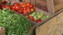 Fresh farmers market (1 of 6) Stock Footage