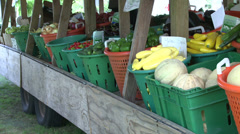 Fresh farmers market (2 of 6) Stock Footage