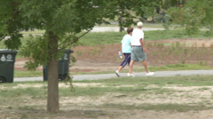 Walking and Jogging in the Park (4 of 7) Stock Footage