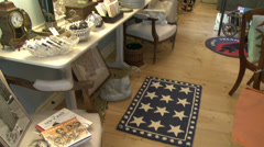 Items inside an antique store (1 of 7) - stock footage