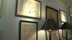 Items inside an antique store (2 of 7) Stock Footage