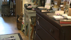 Items inside an antique store (4 of 7) Stock Footage