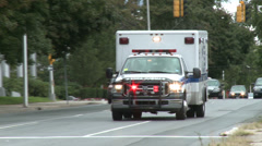 Ambulance with lights flashing (2 of 3) - stock footage