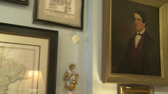 Items inside an antique store (5 of 7) Stock Footage