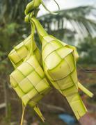 Malaysian traditional food, ketupat Stock Photos