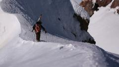 Mountain Climbing Sequence - stock footage